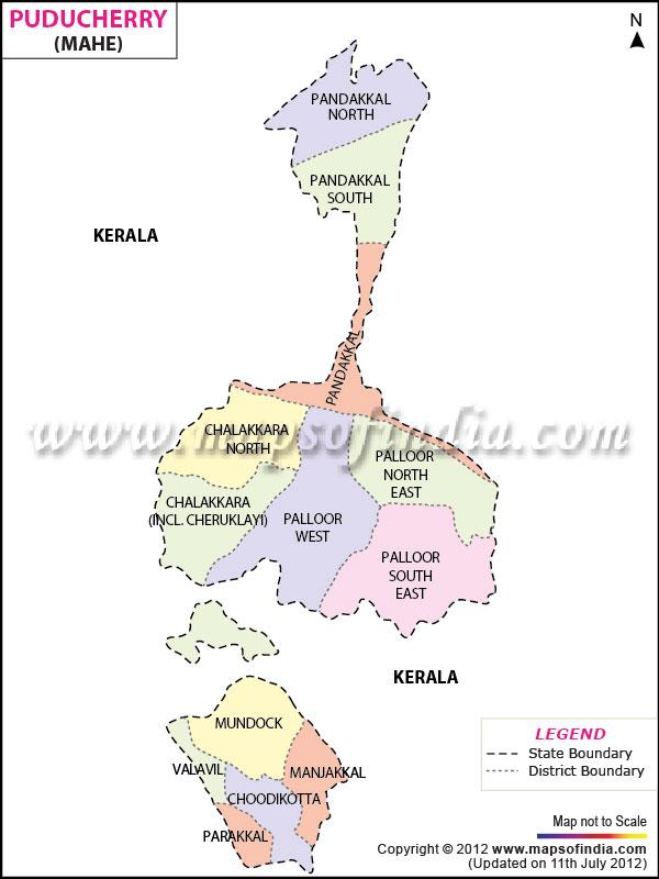mahe Map