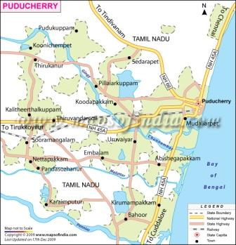 Puducherry Map