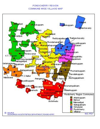 Village Map of Pondicherry Region Commune wise